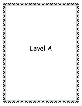 Reading Comprehension (1 week warm-up) Level A, B, C (Resource) pdf version