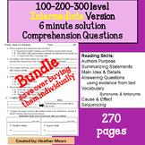 Reading Comprehension 100 200 300 level Intermediate 6 min