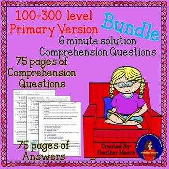 Reading Comprehension 100 - 300 level Primary 6 minute sol