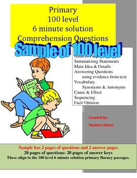 Reading Comprehension- 100 level Primary passage questions