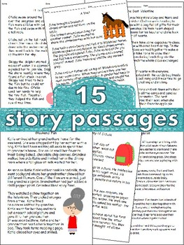 Reading Comprehension 15 Stories