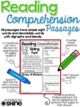 Reading Comprehension Passages ~ Winter Stories