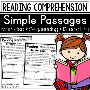 Reading Comprehension Passages ~ Main Idea & Sequencing