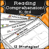 Reading Comprehension Activities & Graphic Organizers for 1st, 2nd, 3rd grade