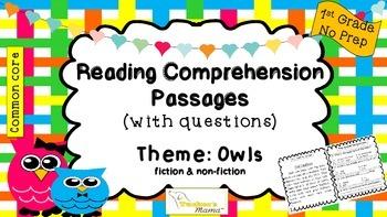 Reading Comprehension - 1st Grade