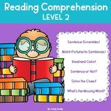 Reading Comprehension Worksheets Level 2