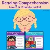 Reading Comprehension Worksheets Bundle (Differentiated Literacy Packet)