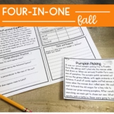 Reading Comprehension: Fall Passages | Upper Elementary |