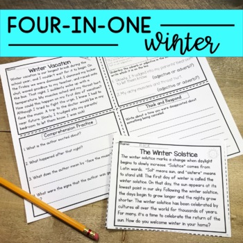 Reading Comprehension Passages Upper Elementary Winter