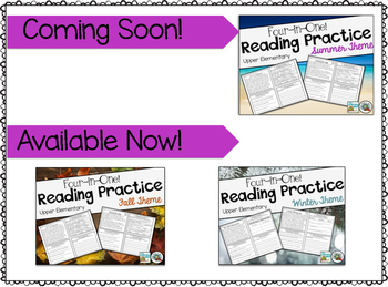 Reading Comprehension Practice Spring Theme