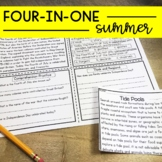 Reading Comprehension Passages Upper Elementary Summer