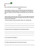 Reading Comprehension 3 pack passages & questions