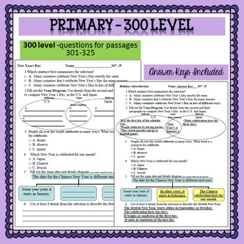 Reading Comprehension 300 level Primary 6 minute solution questions