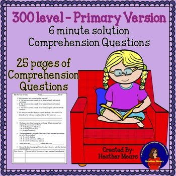 Reading Comprehension 300 level Primary 6 minute solution