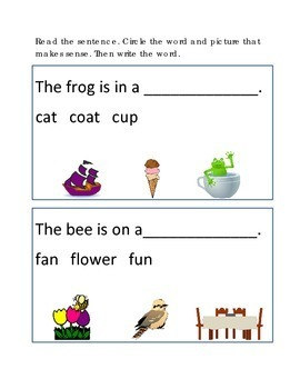 Reading Comprehension #4 Clues Emergent Reader Critical Th