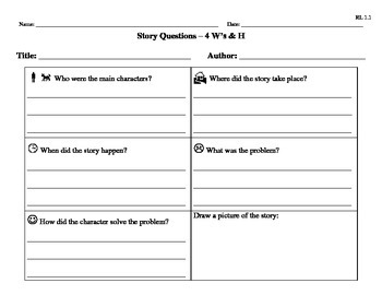 Reading Comprehension 4 W's and H