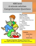 Reading Comprehension 400 level 6 minute solution questions