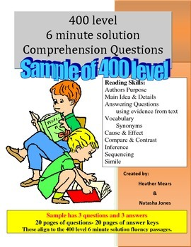 Reading Comprehension-  400 level 6 minute solution questions  Free Sample