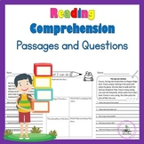 Reading Comprehension, Sight Words, CVC Word Family