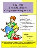 Reading Comprehension 500 level intermediate 6 minute solu