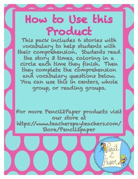 Reading Comprehension 6- Pack