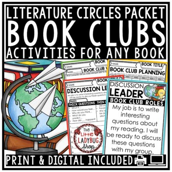 Book Club Activities & Literature Circle Activities for ANY Novel