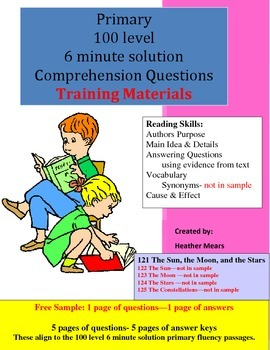 Reading Comprehension 6 minute solution training materials