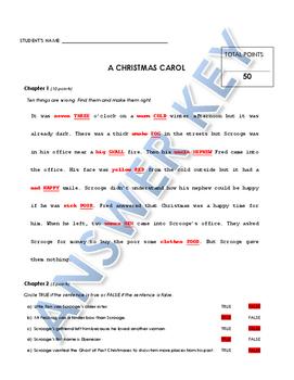 Reading Comprehension - A Christmas Carol (Penguin Readers)