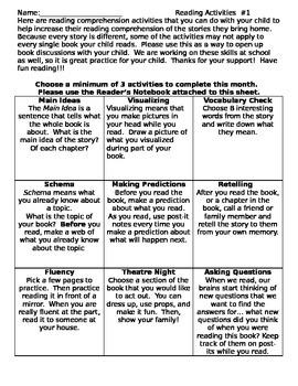 Reading Comprehension Activities #1