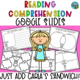 Reading Comprehension Activities - Carla's Sandwich - Google Slides