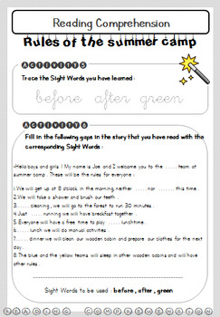 Reading Comprehension Activities - Grades 2 and 3 - Worksheets - Not Cursive