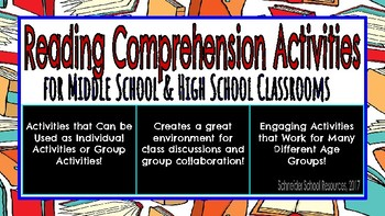 Reading Comprehension Activities for Middle & High School Classrooms