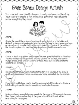 Reading Comprehension Activity - Board Game Design