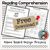 Reading Comprehension Activity - Board Game Design