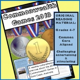 NEW for APRIL 2018! Reading Comprehension Activity: Commonwealth Games 2018