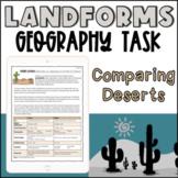 Reading Comprehension Activity - Comparing Landform Use  