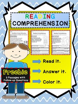 Reading Comprehension Activity Freebie
