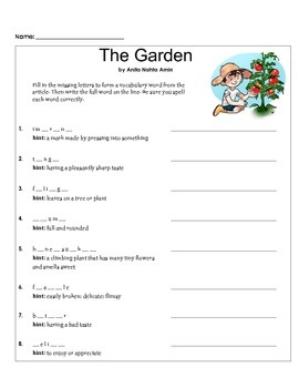 Reading Comprehension Activity (Grade 3-5)