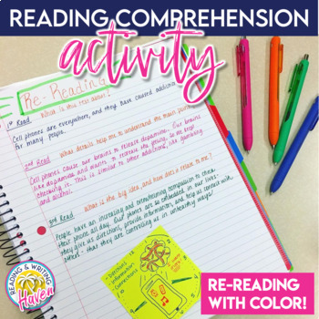Reading Comprehension Activity: Re-reading with Color