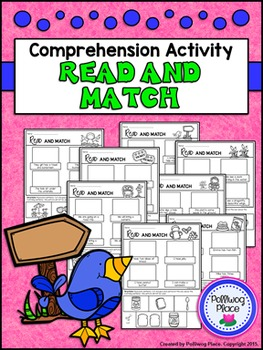 Reading Comprehension Activity: Read and Match - Set 1