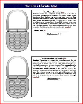 Reading Comprehension Text Messaging Activity