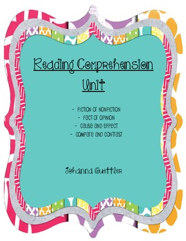 Reading Comprehension Activity Unit