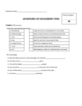 Reading Comprehension - Adventures of Huckleberry Finn (Penguin Readers)