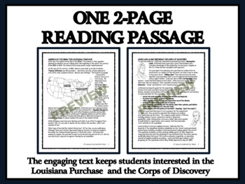 Reading Comprehension: America in the 1800s - Louisiana Purchase