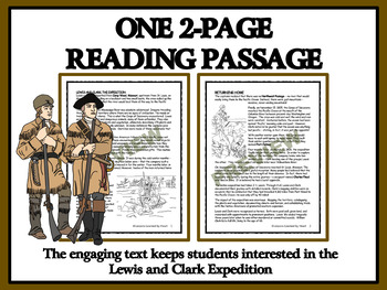 Reading Comprehension: America in the 1800s - The Lewis and Clark Expedition