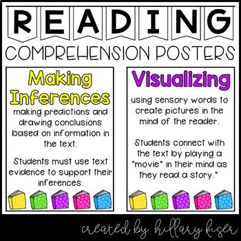 Reading Comprehension Anchor Charts!