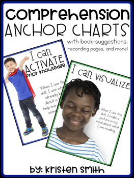 Reading Comprehension Anchor Charts, Book Suggestions, And Recording Pages