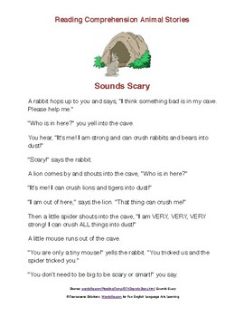 2nd and 3rd Grade Reading Comprehension Passages - Animal Stories