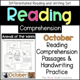 Reading Comprehension Animal of the Week October