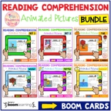 Reading Comprehension Animated Pictures Bundle - Boom Cards ™